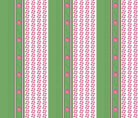 combo_roses_green_and_leaves_Picnik_collage-ch fabric by khowardquilts on Spoonflower - custom fabric
