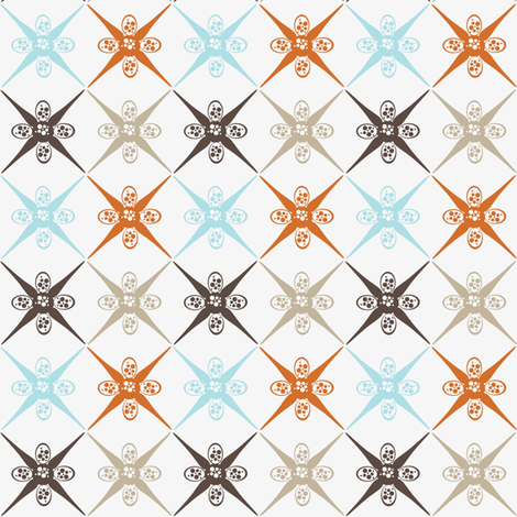 Ornament in Coffee Shop fabric by dolphinandcondor on Spoonflower - custom fabric