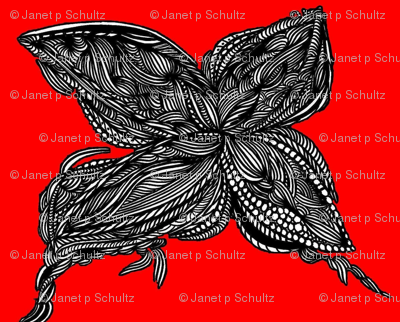 JamJax Bright Red Butterfly