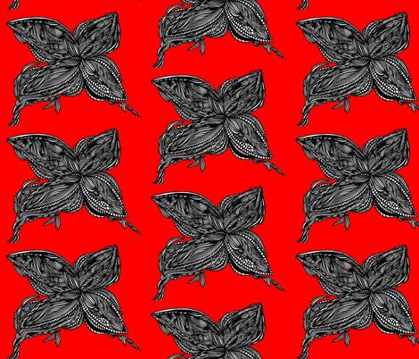 JamJax Bright Red Butterfly fabric by jamjax on Spoonflower - custom fabric