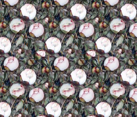 Peonies Love Ants fabric by helenklebesadel on Spoonflower - custom fabric