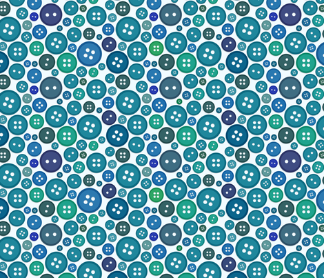 Buttons - Blues fabric by jesseesuem on Spoonflower - custom fabric