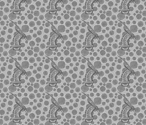 African Masks-Grey-111 fabric by kkitwana on Spoonflower - custom fabric