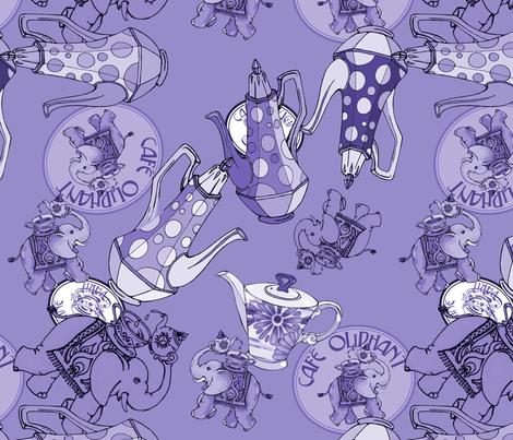 Cafe Oliphant Dusk  fabric by cary_dingel on Spoonflower - custom fabric