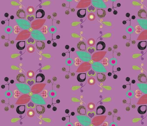 folklore_damask_lightpurple fabric by snork on Spoonflower - custom fabric