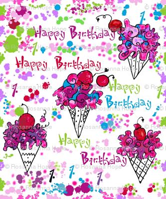 Yummy Ice Cream Cone Sundaes 1st Birthday party