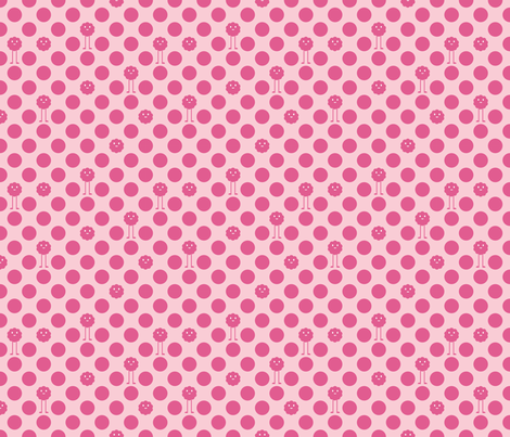 Monster Polka Dots - Girl fabric by jesseesuem on Spoonflower - custom fabric
