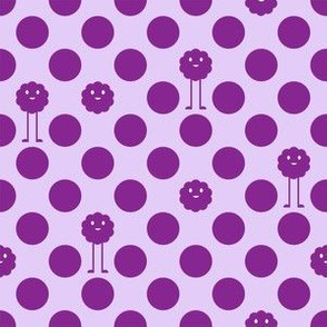 Monster Polka Dots - Purple