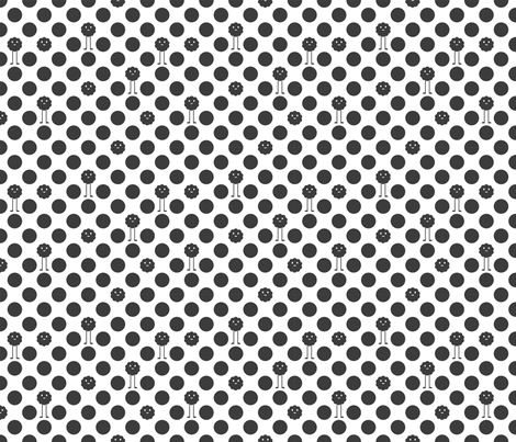 Monster Polka Dots - Black and White fabric by jesseesuem on Spoonflower - custom fabric