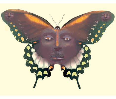 Butterfly_man fabric by margaretsart on Spoonflower - custom fabric