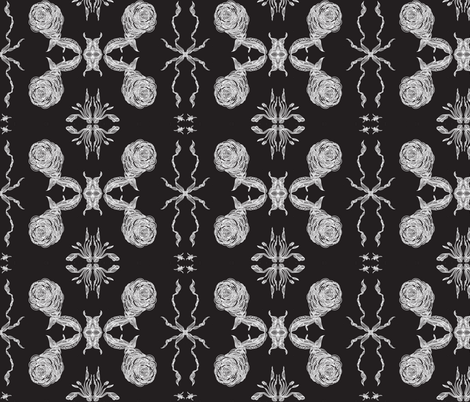 JamJax Rose X fabric by jamjax on Spoonflower - custom fabric