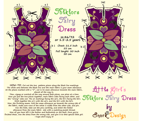 folklore-fairy-dress fabric by snork on Spoonflower - custom fabric