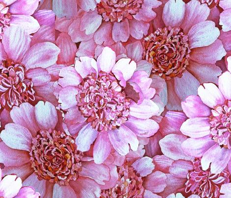 Pink Peony Field fabric by helenklebesadel on Spoonflower - custom fabric