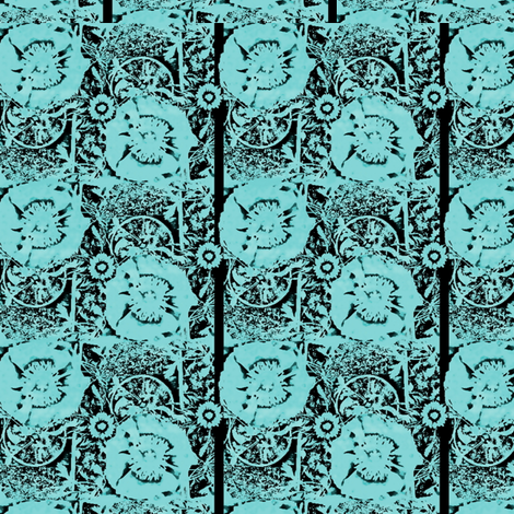 Blue Flowers fabric by nalo_hopkinson on Spoonflower - custom fabric