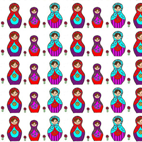 Coloured Matroyshkas