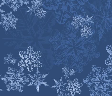 Snowflakedarkblue fabric by jasmo on Spoonflower - custom fabric