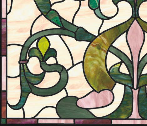 Stained glass in home decor fabric