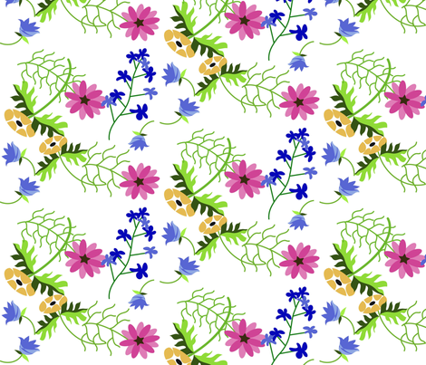 botanical fabric by purelydecorative on Spoonflower - custom fabric
