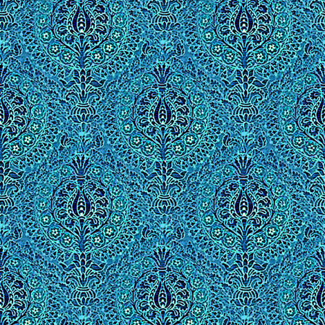 Tapestry, Blue fabric by nalo_hopkinson on Spoonflower - custom fabric