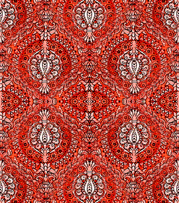 Tapestry, Orangey Reds fabric by nalo_hopkinson on Spoonflower - custom fabric