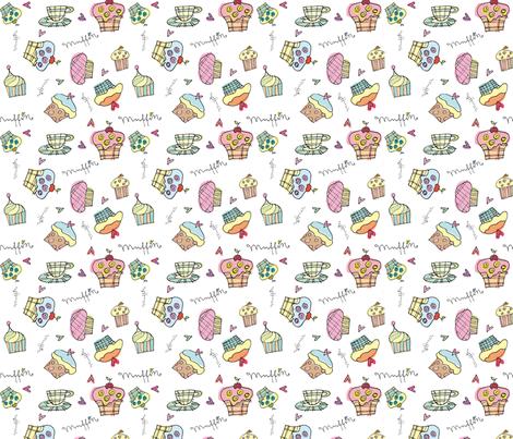 muffins fabric by stefanie_vh on Spoonflower - custom fabric
