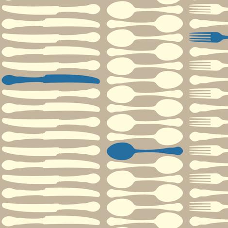 SetTheTableStripes-Blue fabric by tammikins on Spoonflower - custom fabric