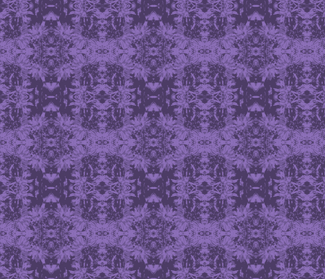 mirrored tone-on-tone_purple_asters_9_24_07_005-ch fabric by khowardquilts on Spoonflower - custom fabric