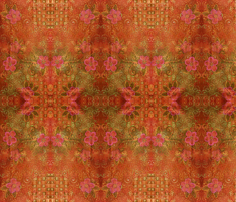 FROM MY ORIGINAL PAINTING ON RAW SILK fabric by floorartetc on Spoonflower - custom fabric