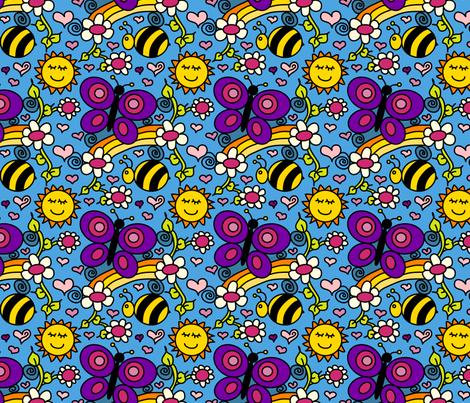 Happy Garden - Purpleibis fabric by purpleibis on Spoonflower - custom fabric