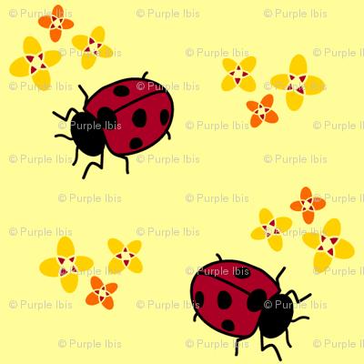 Ladybug Flowers - Purpleibis