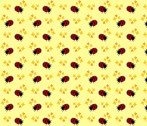 Ladybug Flowers - Purpleibis fabric by purpleibis on Spoonflower - custom fabric
