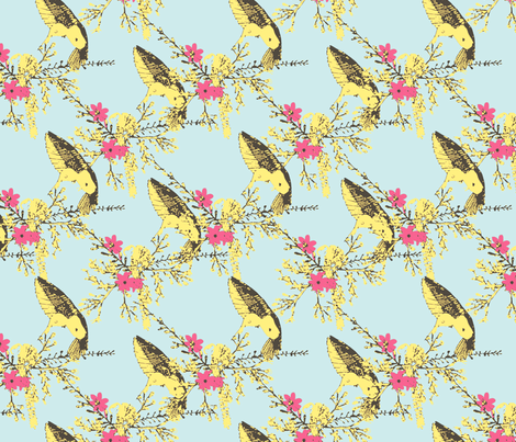 Humming Bird fabric by lydia_meiying on Spoonflower - custom fabric