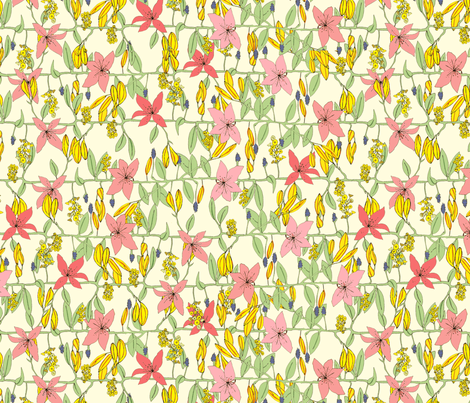Floral fabric by lydia_meiying on Spoonflower - custom fabric