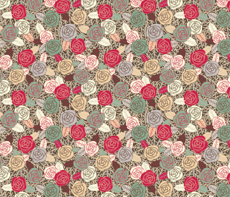 Autumn Flowers fabric by lydia_meiying on Spoonflower - custom fabric