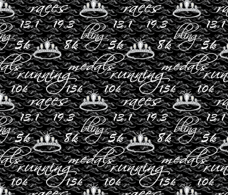Run for the bling Girls!  fabric by vo_aka_virginiao on Spoonflower - custom fabric