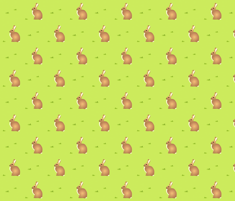 Cottontail Rabbit - Purpleibis fabric by purpleibis on Spoonflower - custom fabric