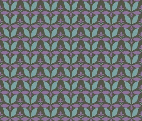 dusty_floral_dark fabric by vo_aka_virginiao on Spoonflower - custom fabric