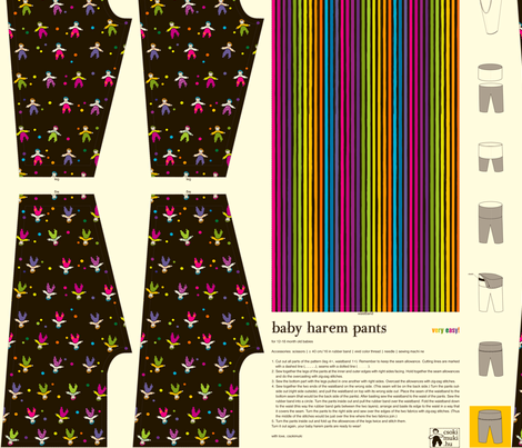 baby_harem_pants fabric by csokimuki on Spoonflower - custom fabric