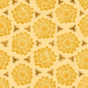 Mandala - Yellow and Gold