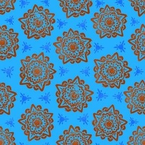 Mandala - Blue and Orange
