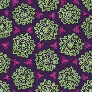 Mandala - Purple and Green