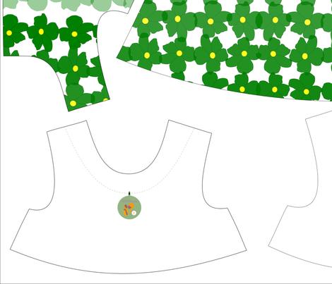 Green Flowers Tent Dress - Size 3 fabric by rachel_galloway on Spoonflower - custom fabric