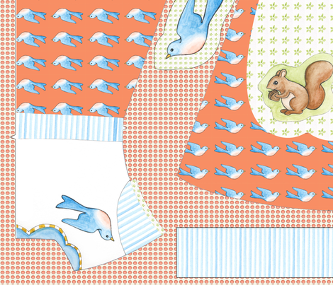 forest_friends_dress fabric by mytinystar on Spoonflower - custom fabric