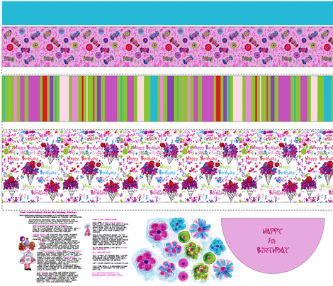 The Yummiest First Birthday Party fabric by rosannahope on Spoonflower - custom fabric