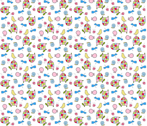 By the Pond fabric by emilyb123 on Spoonflower - custom fabric