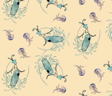 Lobster Tale fabric by nalo_hopkinson on Spoonflower - custom fabric