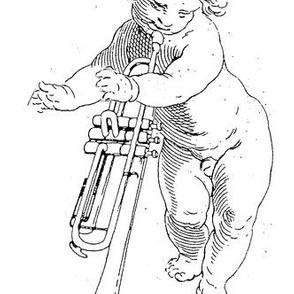 Wieckenberger Trompetenengel, stehend