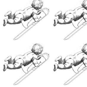 Wieckenberger Posaunenengel Rücken