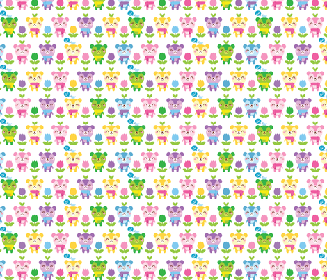 Smile Bears fabric by smilerecipe on Spoonflower - custom fabric