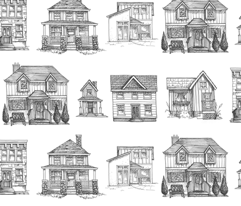 houses fabric by mrshervi on Spoonflower - custom fabric
